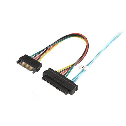 J&D Internal Mini SAS to 4X Internal SAS Cable, Mini SFF 8087 to 4X SFF 8482 Cable - 3 Feet by J&D (Image #2)