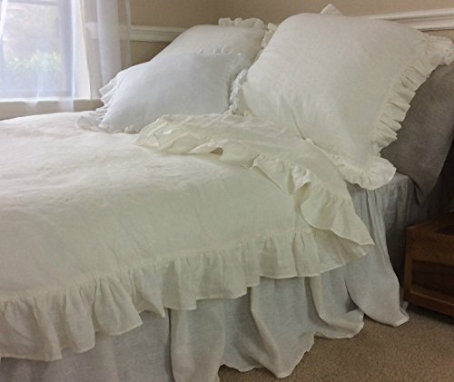 ruched shopping organic rosette white duvet xl ruffle twin pbteen cover