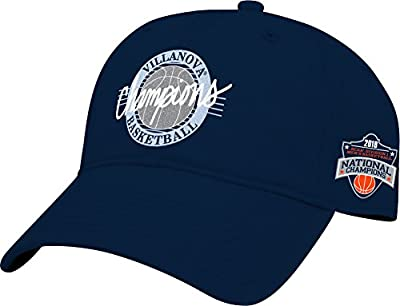 The Game NCAA Villanova Wildcats 2018 NCAA Basketball Champions Circle Design, Relaxed Twill Hat, One Size, Navy from MV CORP. INC