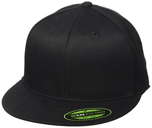 Flexfit Erwachsene Mütze Premium 210 Fitted, Black, L/XL, 6210