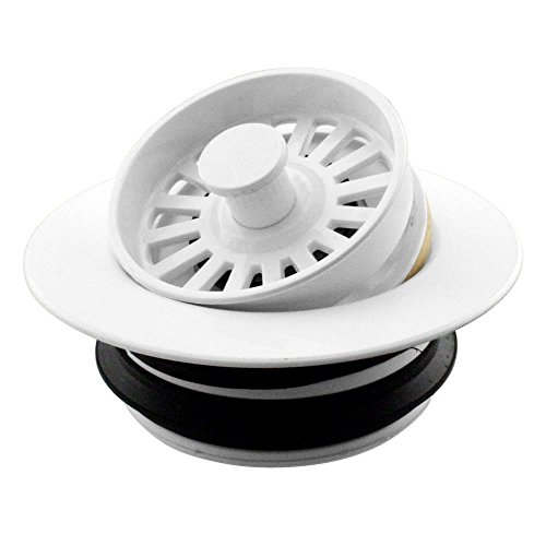 - Westbrass D2124-50 Universal Disposer Flange Cover with Strainer Finish: Powdercoated White