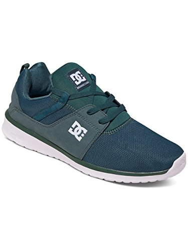 DC Shoes Heathrow M Shoe Bkw - Zapatillas para hombre, color negro Verde