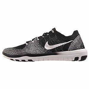 Nike Womens Free Focus Flyknit 2 Training Shoe, Black/White (8)
