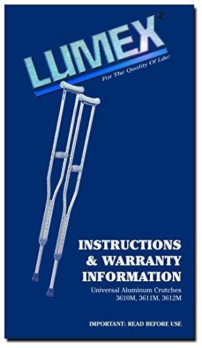 Lumex 3610lf-8 Universal Aluminum Lightweight Adult Crutches by Lumex