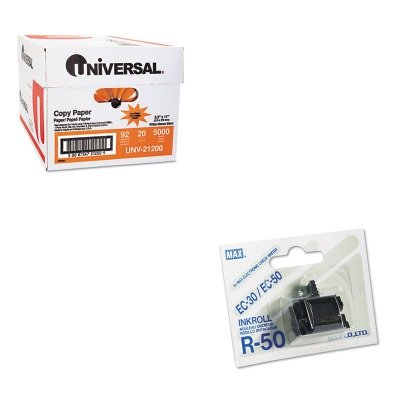 R50 Replacement Roller Ink - KITMXBR50UNV21200 - Value Kit - Max USA Corp R50 Replacement Ink Roller (MXBR50) and Universal Copy Paper (UNV21200)