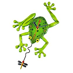 Allen Designs Frog Fly Pendulum Clock