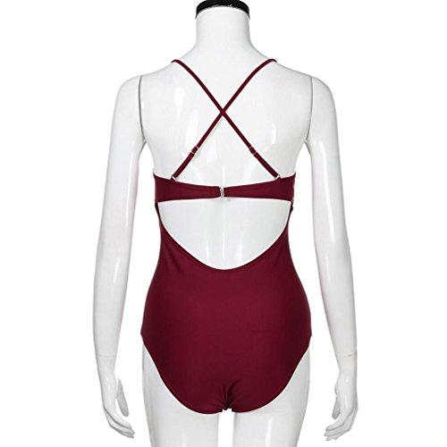 Costumi Spiaggia Donna Intero costume Rosso Bikini Morwind Sexy Vintage Moda Costume Donne Bagno Bikini Da Pizzo Set rq7wFArf