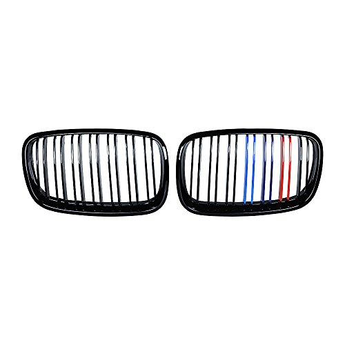 Anzio Glossy Black M Color Front Kidney Grille Double Slat for BMW X5 E7 M (E70) X6 E71 M (E71) Hybrid E72