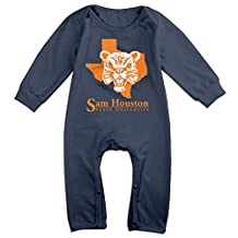 ElishaJ Sam Houston State University Babys Long Sleeve Onesies Navy