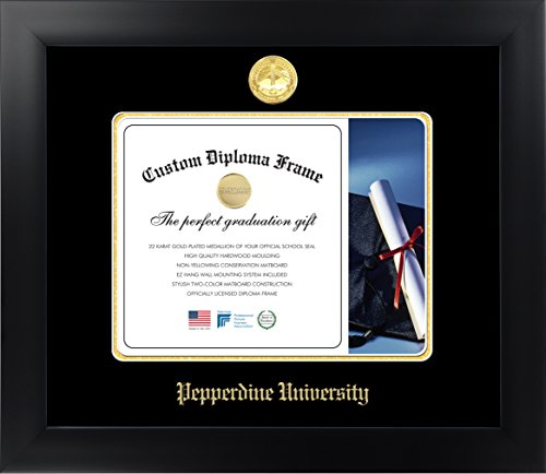 (Celebration Frames Pepperdine University 8½ x 11 Matte Black Finish Infinity Diploma Frame)