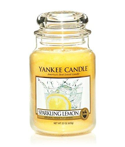 Yankee Candle Sparkling Lemon Large Jar,Fresh Scent