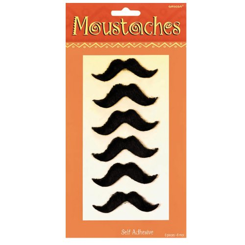 Cinco De Mayo Moustache 6pk