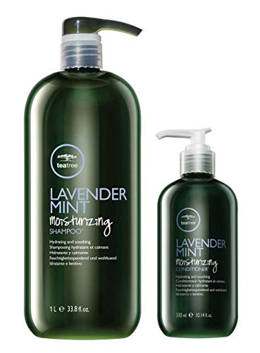 Paul Mitchell Tea Tree Lavender Mint Moisturizing Shampoo (33.8 oz) and Conditioner (10.14 oz) -
