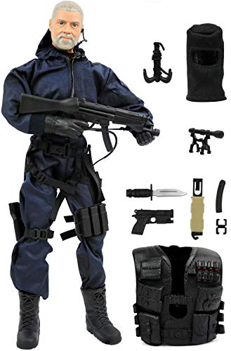 Figures Inch 12 Military (Click N' Play CNP30404 Police Unit Swat Assaulter 12
