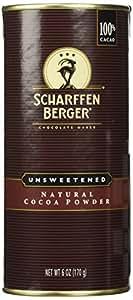 Scharffen Berger (Scharffenberger) Natural Cocoa Powder - Hot Chocolate & Baking Chocolate Tin