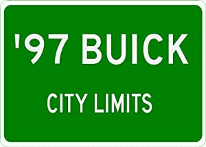 1997 97 BUICK CENTURY City Limit Sign - 10 x 14 Inches
