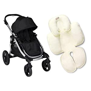 Baby Jogger City Select Single Stroller PLUS Ivory Snuzzler Seat Insert
