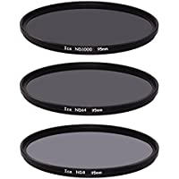 ICE 95mm Slim ND Filter Set ND1000 ND64 ND8 Neutral Density 95 10, 6, 3 Stop Optical Glass