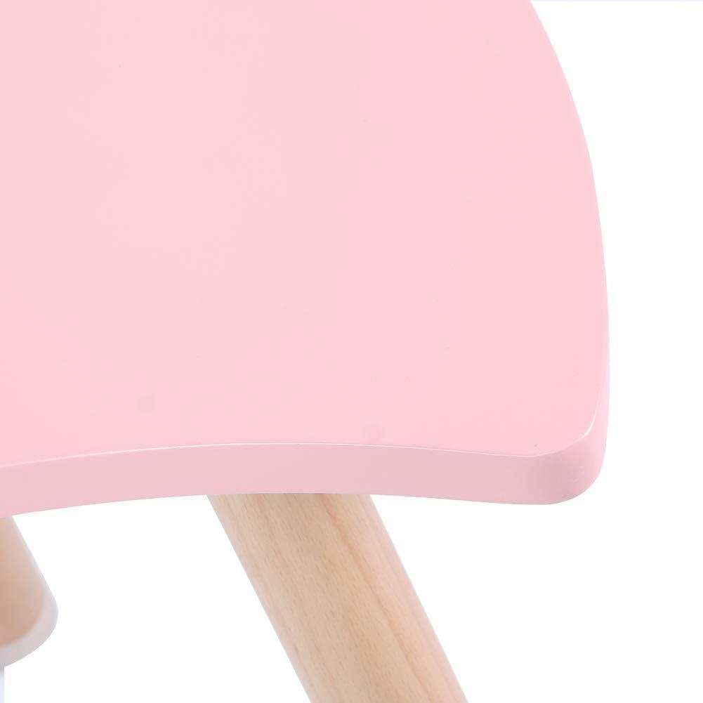 Rosa Ausla Set di sedie da scrivania multifunzionali per Bambini in MDF Tavolino e 1 Sedie per la Decorazione del Soggiorno della Camera da Letto di casa