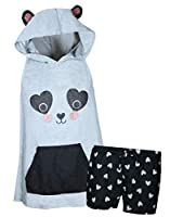 dELiA's Girl's Summer Pajama Short Set with Animal Character Hood