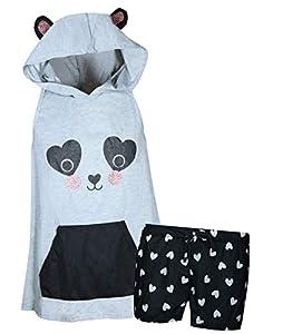 dELiA's Girl's Summer Pajama Short Set with Animal Character Hood