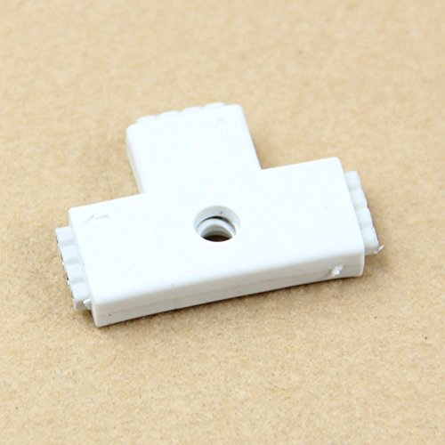 SODIAL(R) 1pc White RGB T Shaped 4 Pins 3 Way Female Connector Adapter For 3528 5050 LED Strip Light by SODIAL(R) (Image #3)