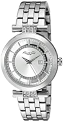 Kenneth Cole New York Women's 10021103 Transparency Digital Display Japanese Quartz Silver Watch
