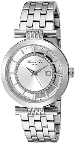 Kenneth Cole New York Silver Dial Watch - Kenneth Cole New York Women's 10021103 Transparency Digital Display Japanese Quartz Silver Watch