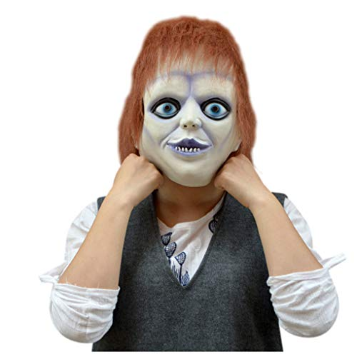 Halloween Horrific Adult Costume Props Cosplay Scary Clown Mask (Picture Color)]()