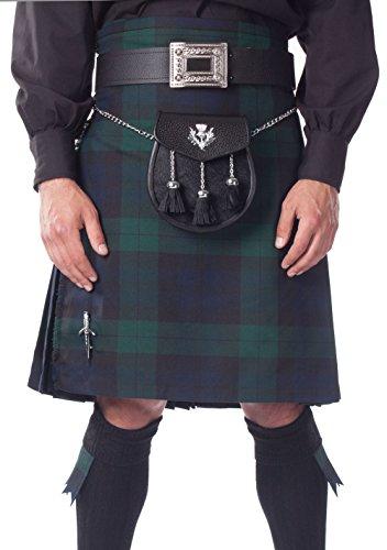 Kilt Society Mens 8 Yard Scottish Kilt Black Watch Tartan 40