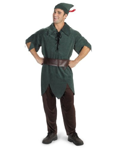 Disney Adult Peter Pan Costume X-Large (42-46), - Peter Pan Costumes Mens