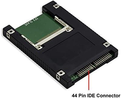 Dual Compact Flash to 44 Pin IDE 2.5 Adapter Enclosure Black