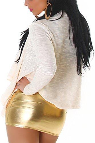 Jela London - Cárdigan - Básico - Manga Larga - para mujer Beige