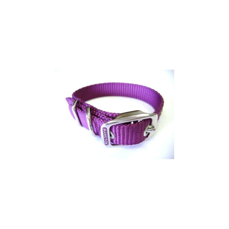 Hamilton 5/8 Inch by 20 Inch Single Thick Nylon Deluxe Dog Collar, Wine