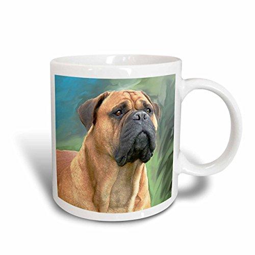 Bullmastiff Mug - 3dRose Bullmastiff Mug, 15-Ounce