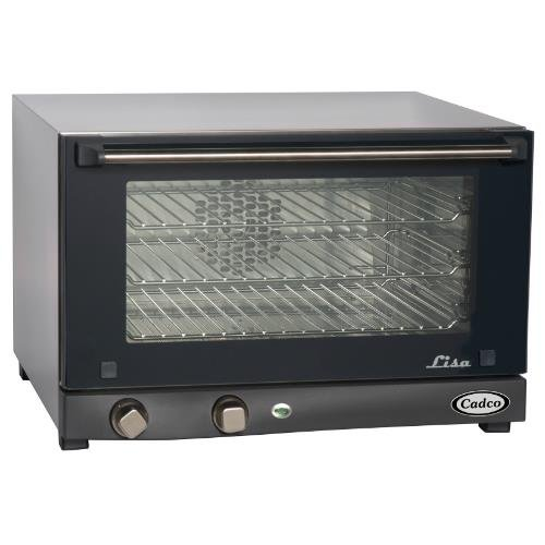 Cadco OV-013 Compact Half Size Convection Oven with Manual Controls, 120-Volt/1450-Watt, Stainless/Black Cadco Toaster And Convection Ovens