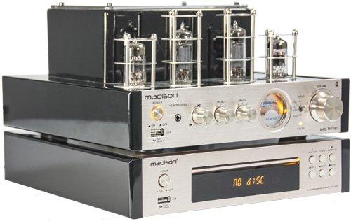 Madison MAD-TA10BT Amplificateur /à tube st/ér/éo 2 x 25 W