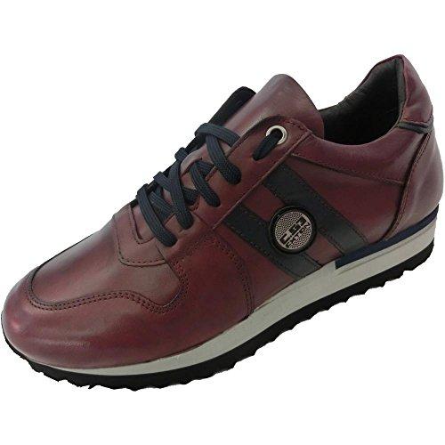 Exton - Zapatillas de Piel para hombre violeta burdeos