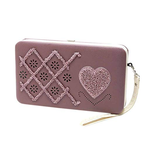 (Clutch Bag Evening,Lady Long Wallet Lunch Box Wallet Evening Package Mobile Phone Bag Purse Handbag,Women's Hobo Handbags )