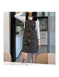 ManY Stylist Apron Adjustable Unisex Cobbler Uniforms with Pockets Art Smock Aprons for Women Beauticians for Workwear (Color : B3, Size : 63 * 83cm)