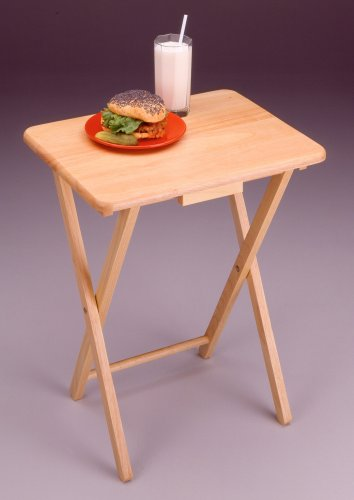 Beechwood Finish Table (TV Tables -4- Tables Natural Beechwood Finish)