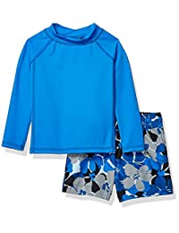 Amazon Essentials Baby Boys 2-Piece Long-Steeve Rashguard and Trunk Set