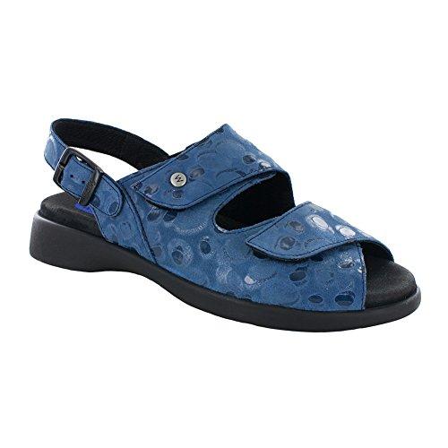 Women's Wolky Circles Nimes Blue Sandal d0xg0an
