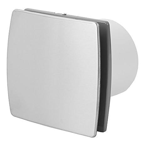 S Ventilator L/üfter Badl/üfter Wandl/üfter Bad-L/üfter f/ür WC Bad oder K/üche Standart Modern Inox//Edelstahl /Ø 120 mm Durchmesser