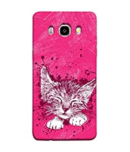 ColorKing Samsung J5 2016 Case Shell Cover - Cat Multi Color