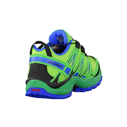 Salomon Xa Pro 3d Cswp K, Zapatillas Unisex Bebé Verde (Tonic Green/Athletic Green X/Union Blue)