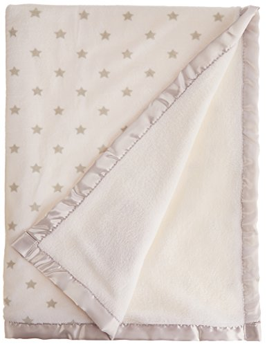 Nuby Cuddly Soft Plush Fleece Baby Blanket Satin Applique, T