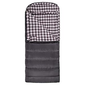 TETON Sports Fahrenheit XXL +20F Sleeping Bag; TETON Sleeping Bag Great for Cold Weather Camping; Lightweight Sleeping Bag; Hiking, Camping; Grey, Left Zip