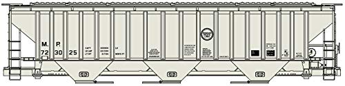 Accurail HO Scale Kit PS 4750 3-Bay Covered Hopper Missouri Pacific/MP #723025