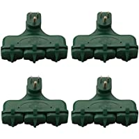 Woods Electric Indoor 3-Outlet Wall Adapter with Outlet Covers 155079 (4 Pack)